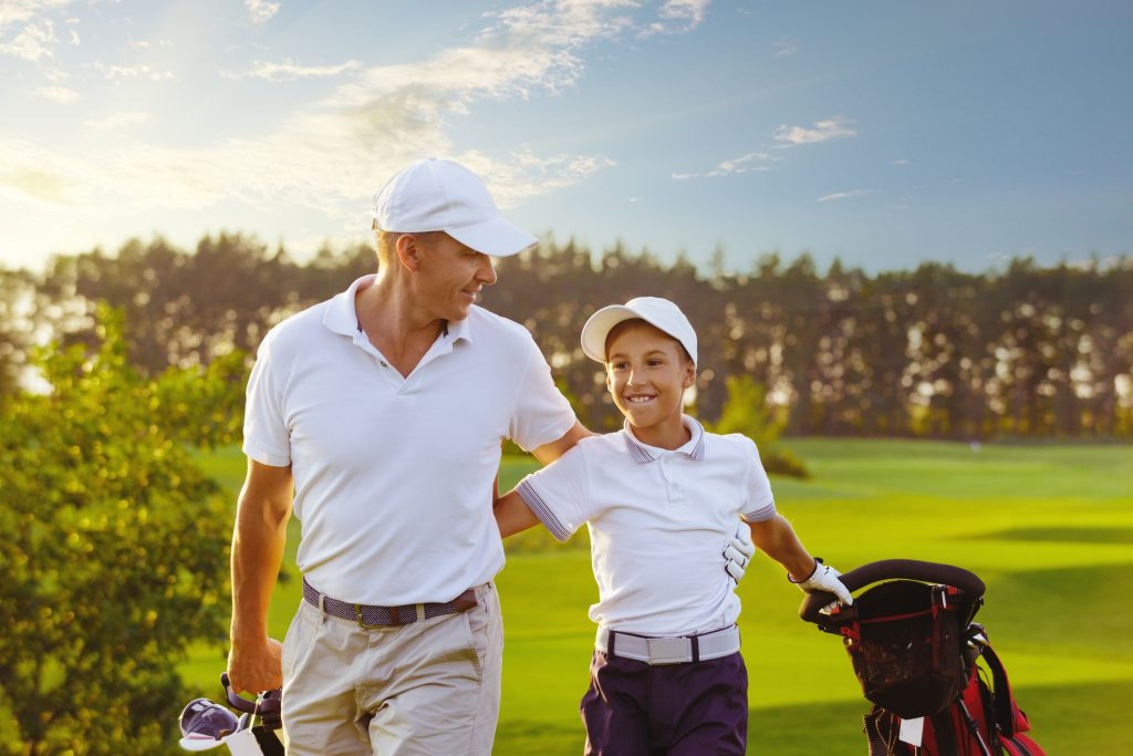 Father and Son Golf Duo
