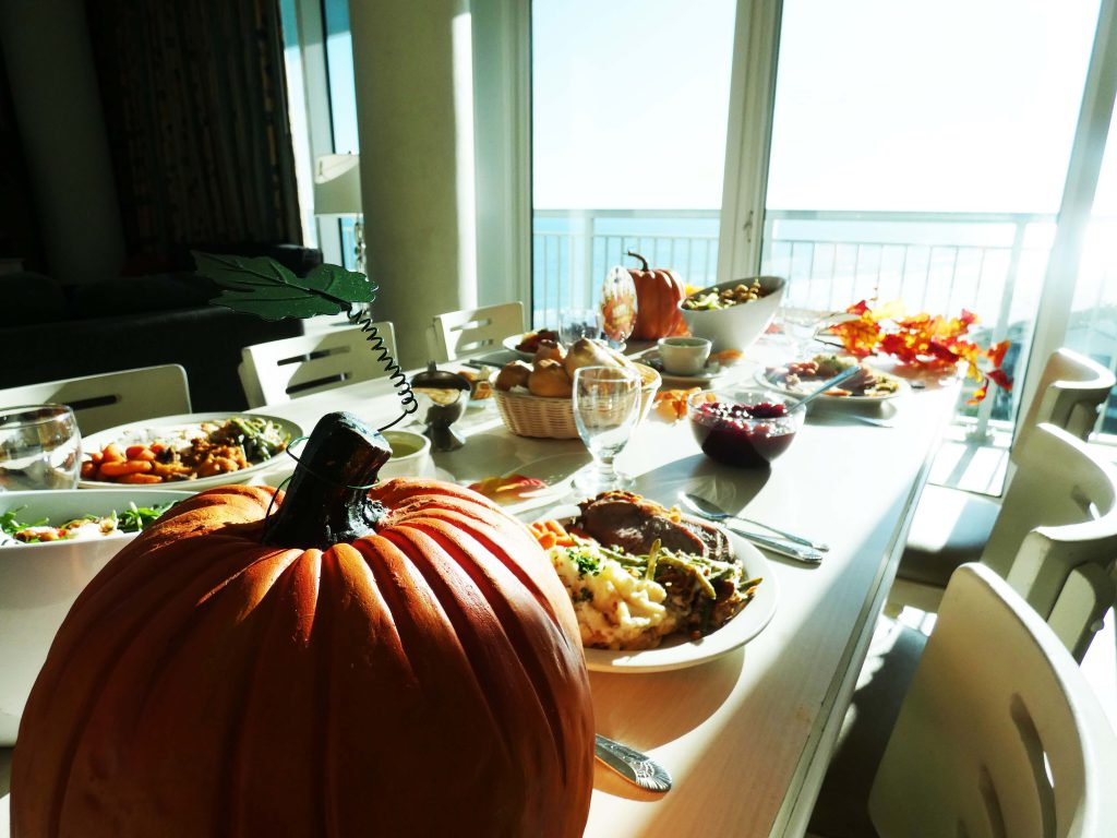 Beautiful Table Setting on the Oceanfront